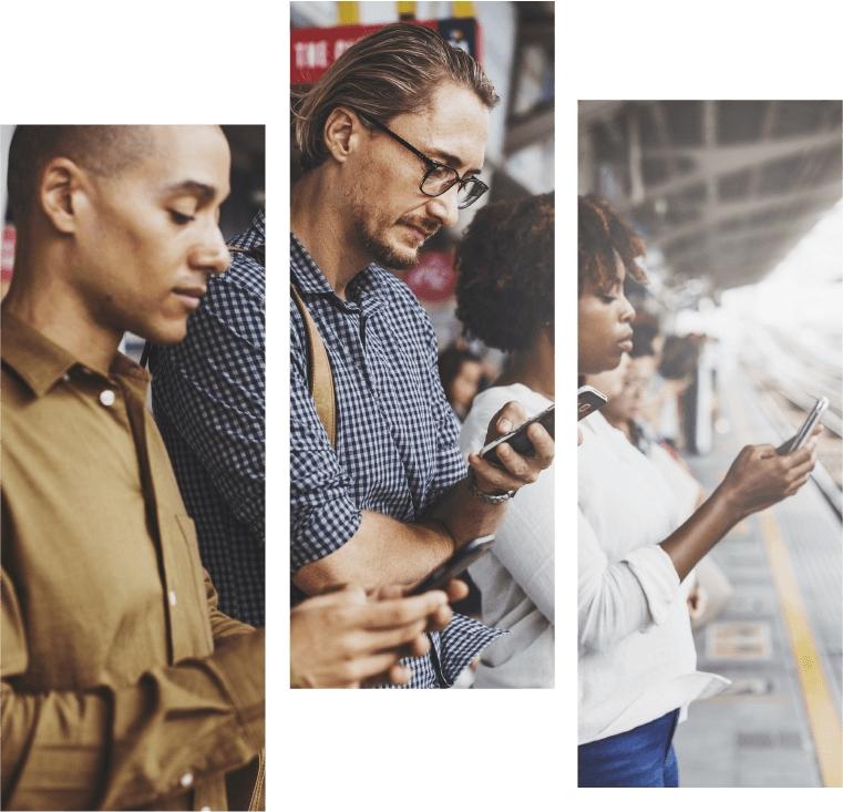 Pessoas usando as redes sociais